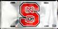 NC State Wolfpack Chrome License Plate