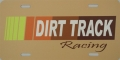 Dirt Track Racing License Plate