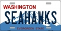 Seattle Seahawks State Background License Plate