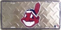 Cleveland Indians Diamond Plate License Plate