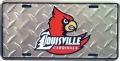 Louisville Cardinals Diamond Plate License Plate