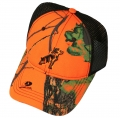 Mack Trucks Blaze Orange Mossy Oak Camo Hunting Bulldog Logo Snapback Cap
