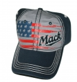 Mack Trucks Red & Blue Patriotic Bulldog Flag Cap