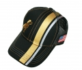 Mack Trucks Black & Gold USA Flag Mesh Trucker Cap