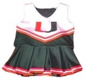 Miami Hurricanes NCAA College Youth Cheerleading Outfits-FREE SHIPPING
