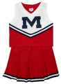Ole Miss Rebels Away NCAA College Youth Cheerleading Outfits-FREE SHIPPING