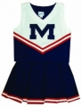 Ole Miss Rebels Home NCAA College Youth Cheerleading Outfits-FREE SHIPPING