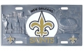New Orleans Saints NFL 3D Pewter License Plate