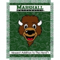 "Marshall Thundering Herd 36"" x 48"" Triple Woven Baby Throw Blanket"