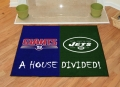 New York Giants vs New York Jets House Divided Floor Rug