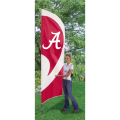 "Alabama Crimson Tide NCAA Applique & Embroidered 102"" x 30"" Tall Team Flag"