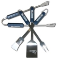 New England Patriots Stainless Steel BBQ Utensil Set