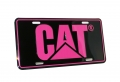 Caterpillar CAT Hot Pink & Black License Plate