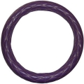 "Rig Matters 18"" Diamond Cushion Style Purple & Black Semi Truck Steering Wheel Cover"