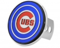 "Chicago Cubs Chrome Finish Automotive 2"" Laser Hitch Cover"