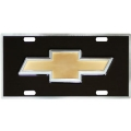 Chevrolet Chevy Bowtie Heavy Duty Pewter 3D License Plate