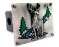 8 Point Buck Deer Logo Style Hitch Cover