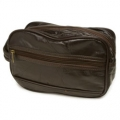 "Road Pro 10"" Patchwork Brown Shave Kit Bag"