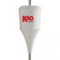 K-40 Plus Series 6000 Watt Trucker White Antenna