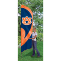 "Auburn Tigers NCAA Applique & Embroidered 102"" x 30"" Tall Team Flag"