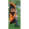 "Cincinnati Bengals NFL Applique & Embroidered 102"" x 30"" Tall Team Flag"