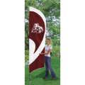 "Mississippi State Bulldogs NCAA Applique & Embroidered 102"" x 30"" Tall Team Flag"