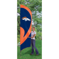 "Denver Broncos NFL Applique & Embroidered 102"" x 30"" Tall Team Flag"