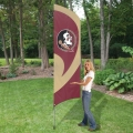 "Florida State Seminoles NCAA Applique & Embroidered 102"" x 30"" Tall Team Flag"