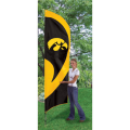 "Iowa Hawkeyes NCAA Applique & Embroidered 102"" x 30"" Tall Team Flag"