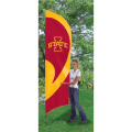 "Iowa State Cyclones NCAA Applique & Embroidered 102"" x 30"" Tall Team Flag"