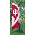 "Indiana Hoosiers NCAA Applique & Embroidered 102"" x 30"" Tall Team Flag"