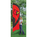 "Louisville Cardinals NCAA Applique & Embroidered 102"" x 30"" Tall Team Flag"