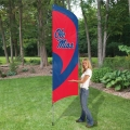 "Ole Miss Rebels NCAA Applique & Embroidered 102"" x 30"" Tall Team Flag"