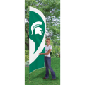 "Michigan State Spartans NCAA Applique & Embroidered 102"" x 30"" Tall Team Flag"