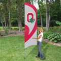 "Ohio State Buckeyes NCAA Applique & Embroidered 102"" x 30"" Tall Team Flag"