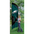 "Philadelphia Eagles NFL Applique & Embroidered 102"" x 30"" Tall Team Flag"