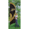 "Purdue Boilermakers NCAA Applique & Embroidered 102"" x 30"" Tall Team Flag"