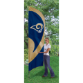 "St. Louis Rams NFL Applique & Embroidered 102"" x 30"" Tall Team Flag"
