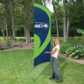"Seattle Seahawks NFL Applique & Embroidered 102"" x 30"" Tall Team Flag"