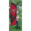 "Tampa Bay Buccaneers NFL Applique & Embroidered 102"" x 30"" Tall Team Flag"