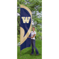 "Washington Huskies NCAA Applique & Embroidered 102"" x 30"" Tall Team Flag"