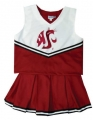 Washington State Cougars NCAA College Youth Cheerleading Outfits-FREE SHIPPING