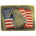 American Flag w/ Eagle Logo Style Hitch Cover