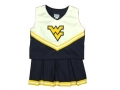 West Virginia Mountaineers NCAA College Youth Cheerleading Outfits-FREE SHIPPING