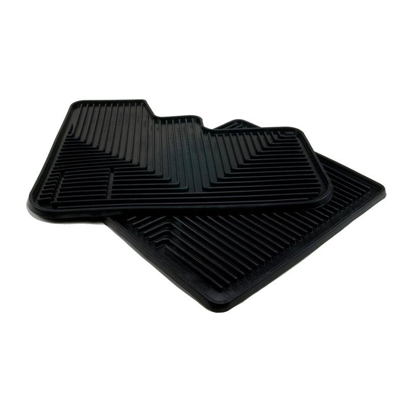 Peterbilt Motors 370 Black High Ribbed Rubber Floor Mats Peterbilt Floor Mats Peterbilt