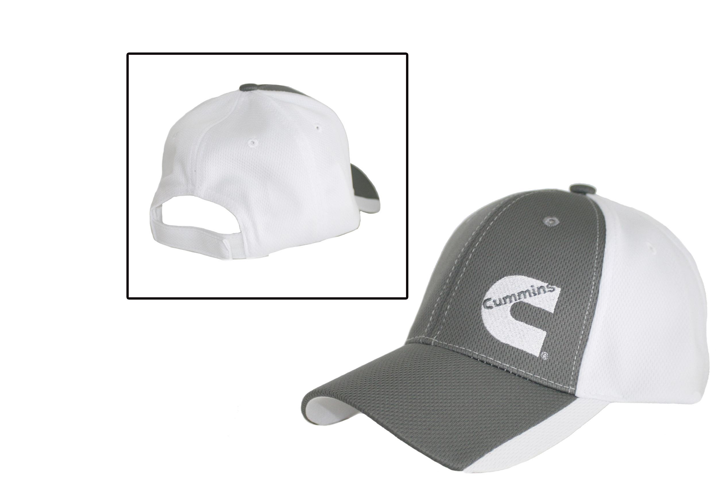 Cummins Diesel Gray   White Polymesh Hat Cap - Cummins Merchandise - Cummins  Diesel Gray   White Polymesh Hat Caps fd22386762ff
