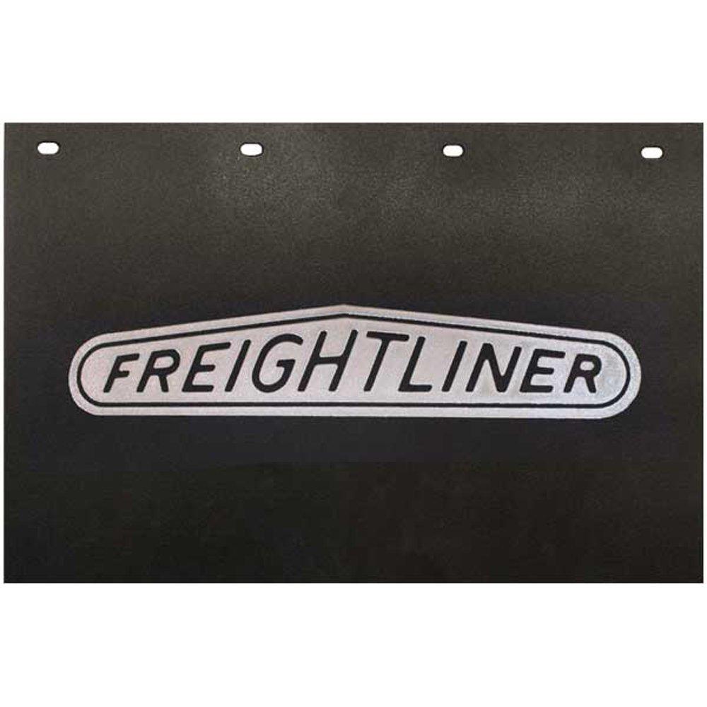 Semi Mud Flaps >> Freightliner Trucks 24 X 15 Black Silver Poly Semi Truck Mud Flaps Pair