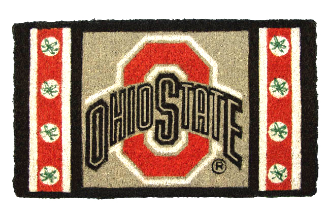 Ohio State Buckeyes Red Logo Welcome Door Mat