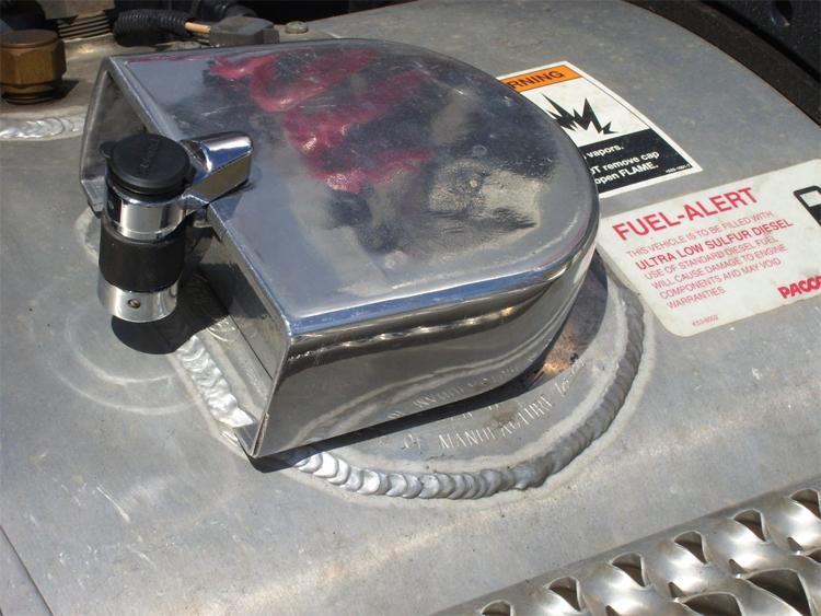 Chrome Locking Fuel Cap for Freightliner Trucks