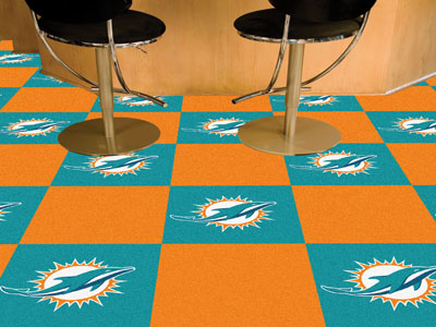 Miami Dolphins Carpet Tiles Nfl Carpet Squares Miami
